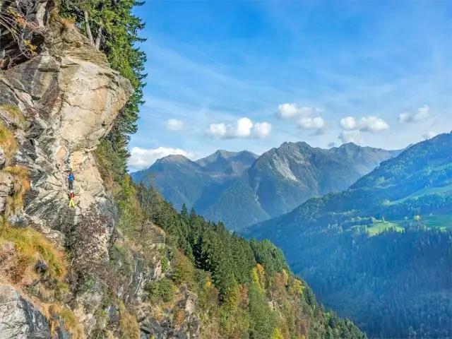"""Der Klettersteig """"Stuller Wasserfall"""""""